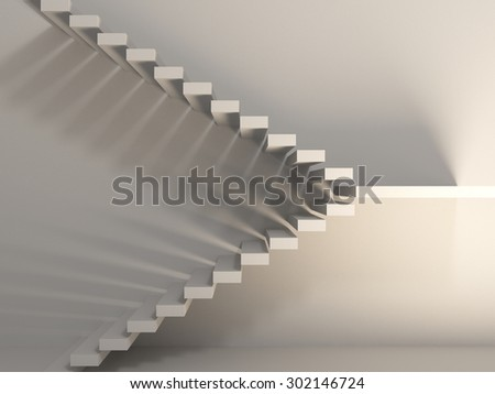 Abstract stairs in empty room interior. ,The background image is taken to offer a variety of different ideas and go step by step. - stock photo