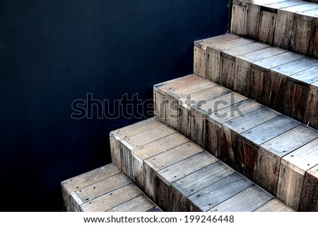 Abstract stairs in interior  - stock photo