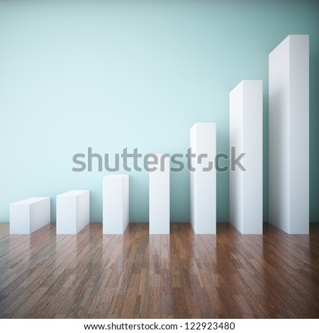 Abstract stairs in the form of a graph - stock photo