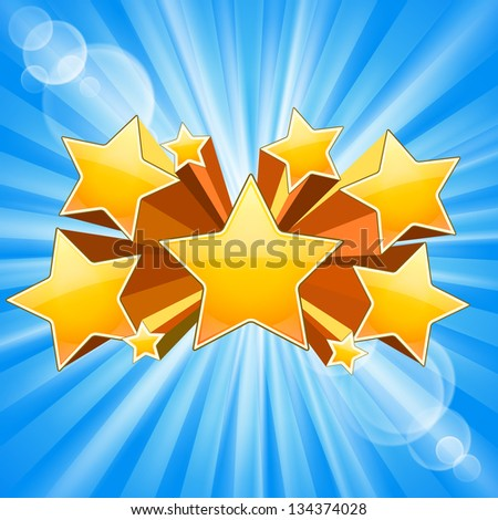Abstract Star Burst Background with rays flare. See also vector version - stock photo