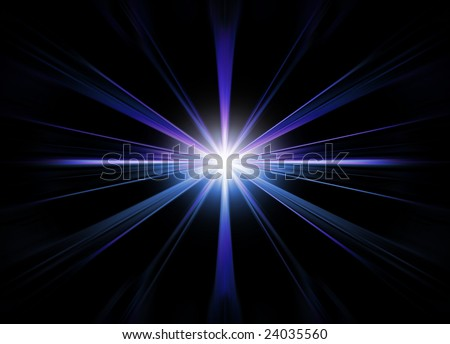 Abstract star flare - stock photo