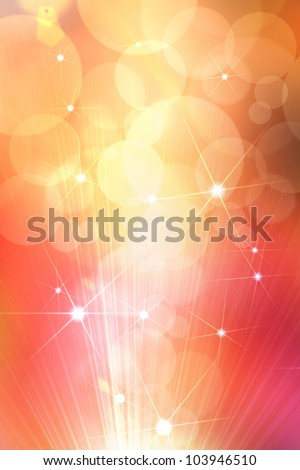 Abstract star golden background - stock photo