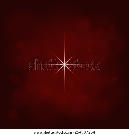 abstract star magic light sky bubble blur red background - stock photo
