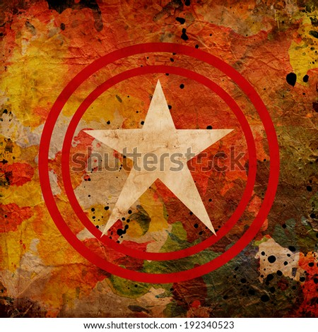 abstract star on gunge background