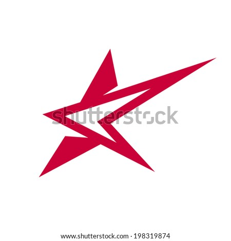Abstract star sign Branding Identity Corporate logo design template Isolated on a white background - stock photo