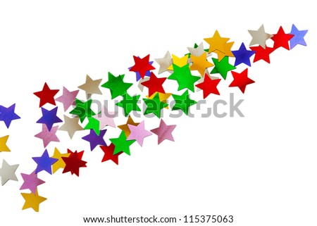 Abstract stars pattern isolated on white background