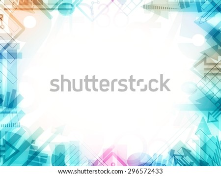 abstract statistics frame border illustration