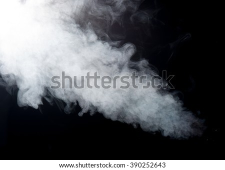 Abstract steam on a black background