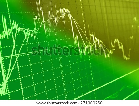 Abstract stock market diagram candle bars trade. - stock photo