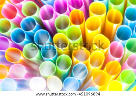 Abstract straws to lie down with different colors