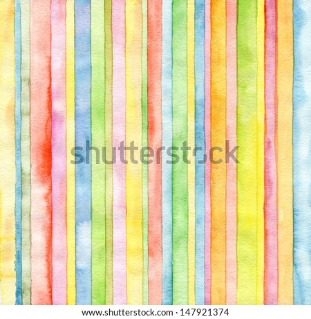 Abstract  strip watercolor painted background - stock photo