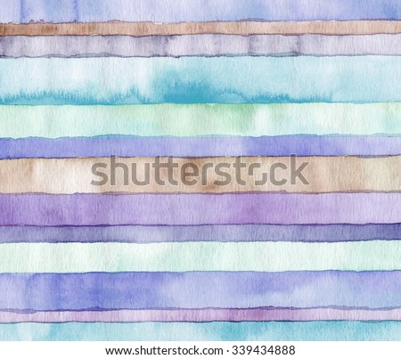 Abstract strip watercolor painted background. - stock photo