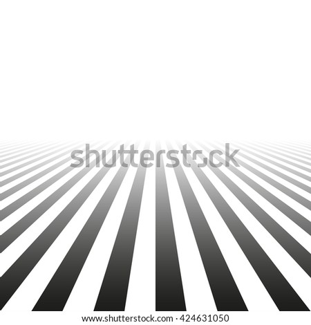 Abstract striped background with perspective. - stock photo
