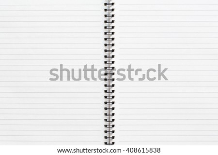 Abstract striped notebook with solid white paper. Blank notebook for background