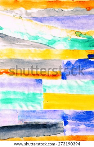 abstract striped painting mixed technique background - stock photo