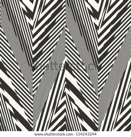 Abstract striped textured geometric seamless pattern.  - stock photo