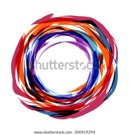 Abstract stripes watercolors pattern  - stock photo