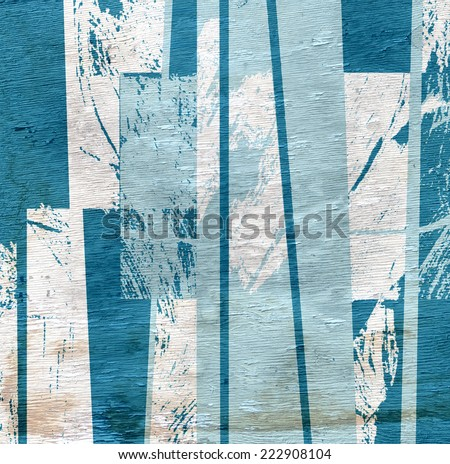 abstract stripes with wood grain texture - stock photo