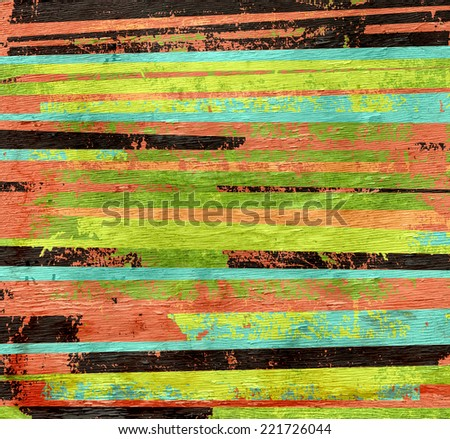abstract stripes with wood texture grain - stock photo