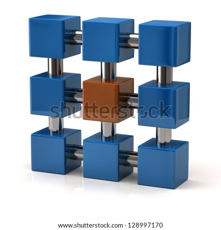 Abstract structure and system icon, 3d - stock photo