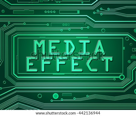 Abstract style illustration depicting printed circuit board components with a media effect concept. - stock photo