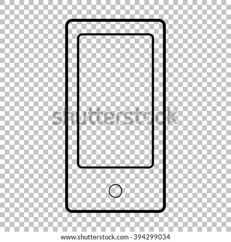 Abstract style modern gadget line icon on transparent background - stock photo