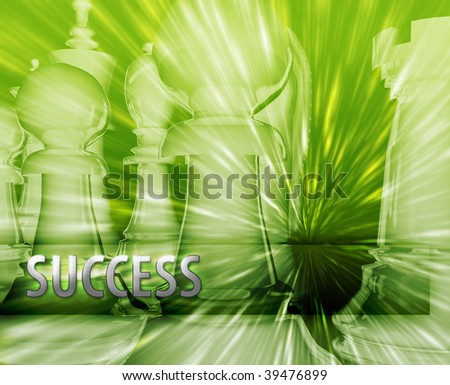 Abstract success business strategy management chess themed illustration