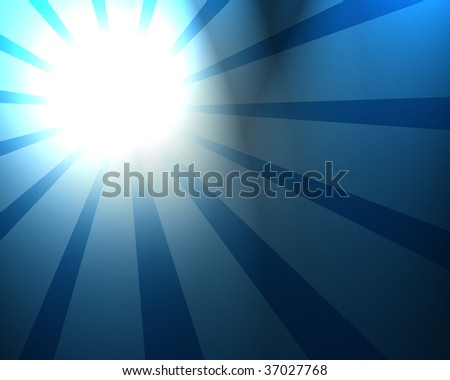 abstract summer sun on a blue background