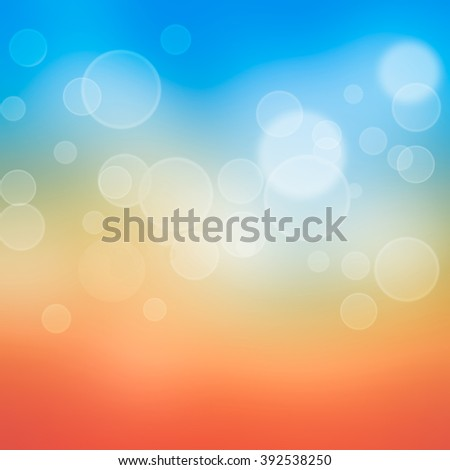 abstract summer sunset sky with blue,yellow and orange color