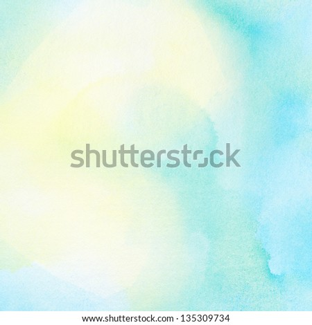 Abstract summer watercolor background. - stock photo