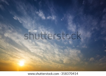 Abstract sunset cloudscape