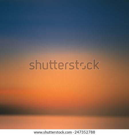 Abstract sunset motion blur for background - stock photo
