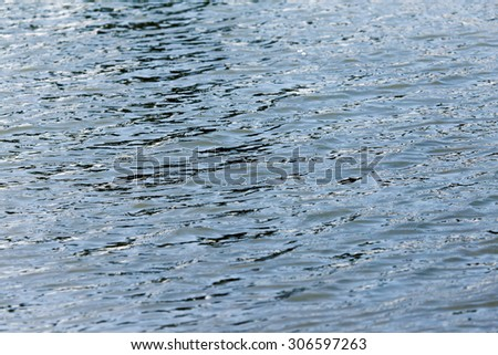 abstract surface of the water