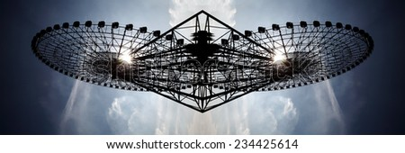 Abstract surreal intricate twisted structure pattern. - stock photo