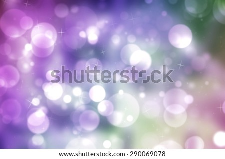 Abstract Sweet Magic Soft Rainbow Colorful Light Boken Texture Background - stock photo