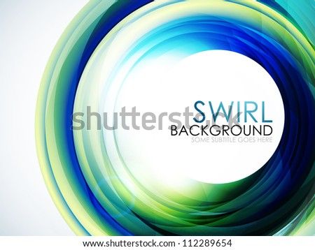 Abstract swirl background with sample text - stock photo