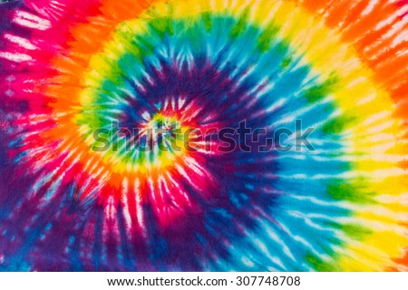Abstract Swirl Design Tie Dye