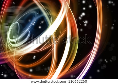Abstract swirl lines futuristic space background - stock photo
