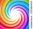 Abstract swirl rainbow background made of glossy twirls - stock photo