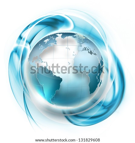 abstract symbol with planet inside