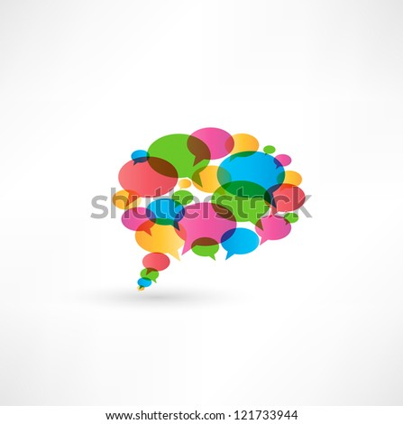 abstract talking bubble - stock photo