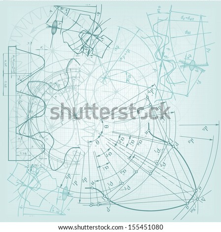 Abstract  technical background, gear . Raster version. The original is also available in my gallery - stock photo