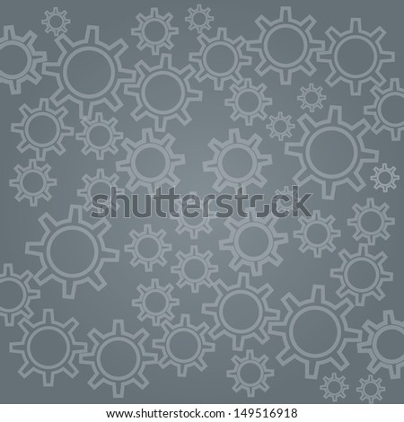 Abstract techno background with metal gears. - stock photo