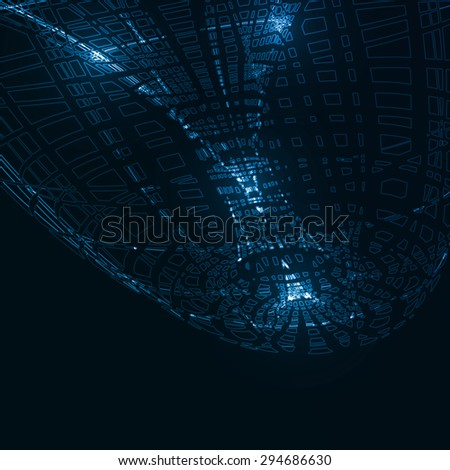 Abstract technological background, futuristic art illustration