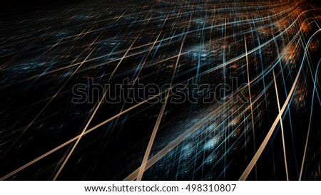 Abstract technology background. Artistic fractal design for use with  projects on business, science, education and technology. Creative concept series.