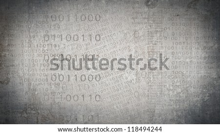 abstract technology background binary code high resolution - stock photo