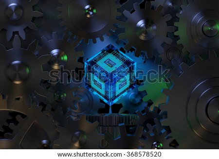 Abstract Technology Background / Industrial Concept - stock photo