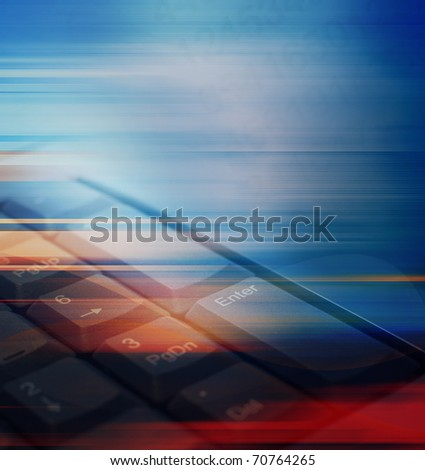 Abstract technology background keyboard - stock photo