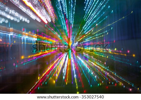 Abstract technology background with colorful fiber optic light burst, Christmas Holiday design  - stock photo