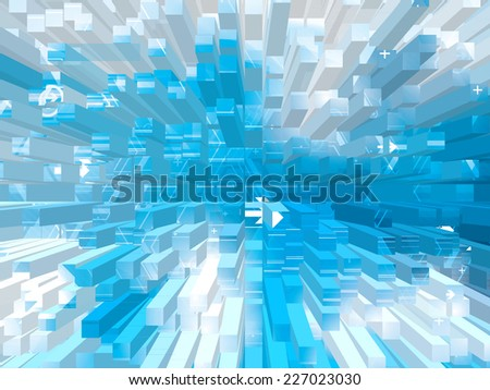Abstract technology background with concept of constructing buildings
